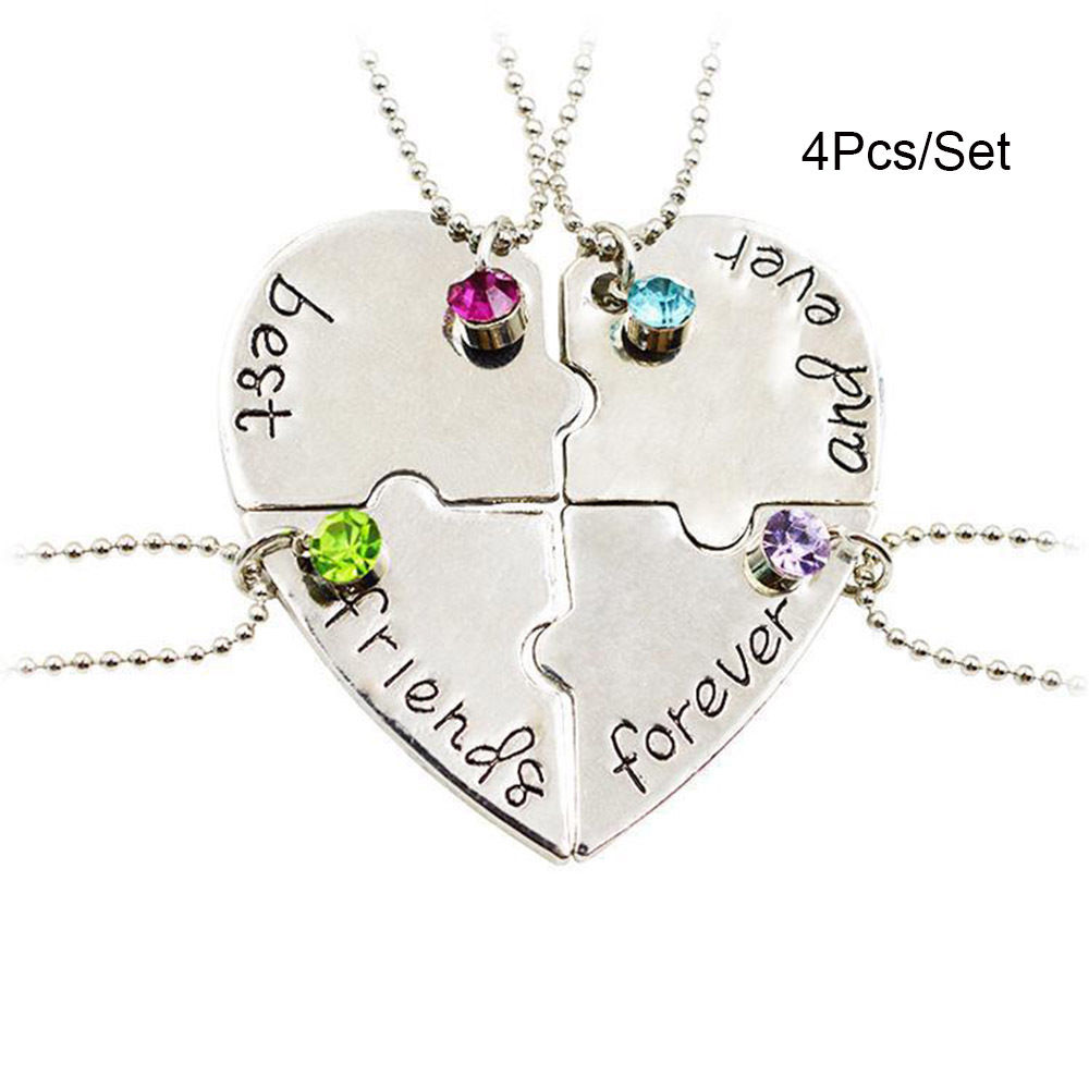 piece image front puzzle heart strength necklace of split genesis ss womens stainless jewelry shields steel