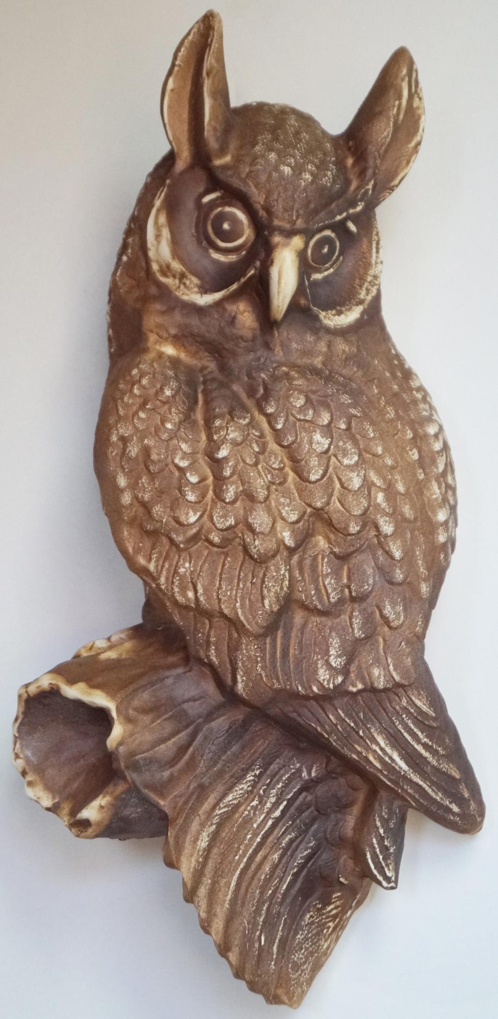 ceramic figure owl for hanging for garden /