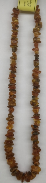 Necklace long natural amber